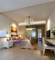 3d model modern suite bedroom one bathroom