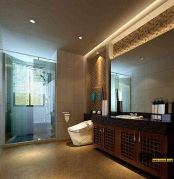 3d model of European-style bathroom