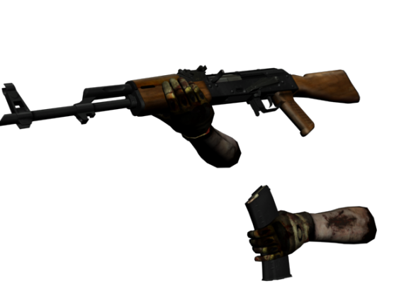 AK-47 with animation   Free 3D models