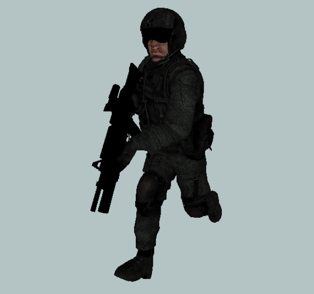 Animated army pilot for Mobel 3d download