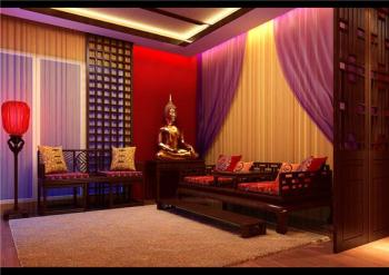 China Wind living room model renderings