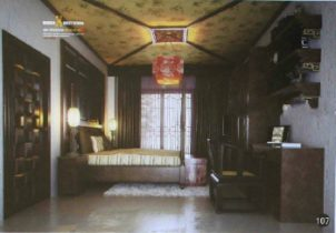 Chinese classical solid wood bedroom model
