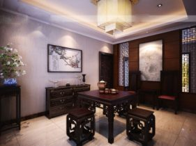 Chinese home small restaurant 3D model