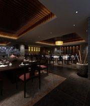 Chinese restaurant retro style 3d model