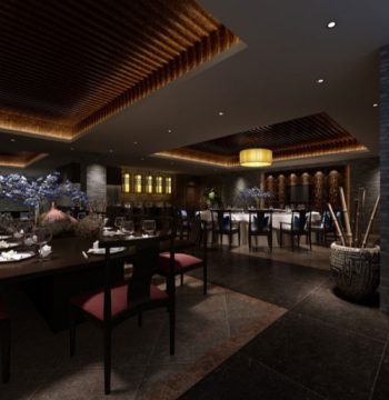 Chinese restaurant retro style 3d model