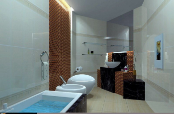 Cold bathroom 3D model