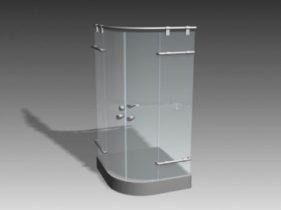 Common shower room 3d model