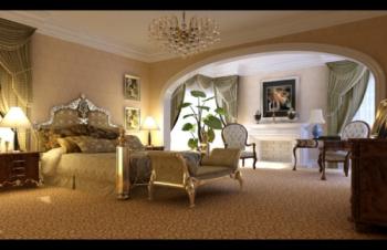 Continental bucolic bedroom 3d model