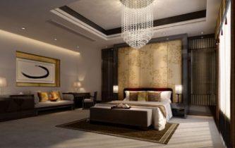 Deluxe bedroom 3d model