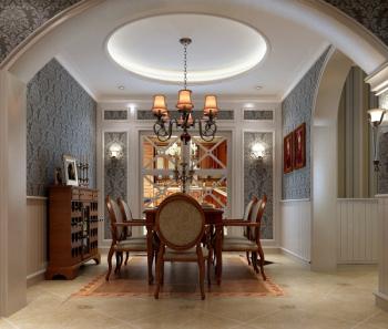 Deluxe continental restaurant 3d model home