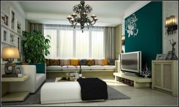 European-style garden the living room 3D model