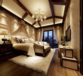 Exquisite decoration bedroom 3d model