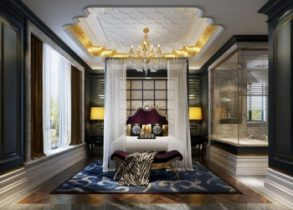 Fan luxury palace bedroom model
