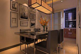 Fashion model 3d small family restaurant