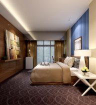 Fashion simple and comfortable bedroom 3D model