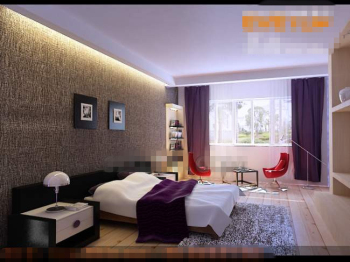 Fresh and fashion purple bedroom