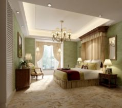 Fresh pastoral style bedroom 3d model