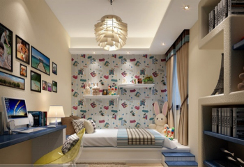 Full of playful children's room 3D model