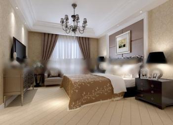 Hotel Double Bedroom 3d model   DownloadFree3D.com