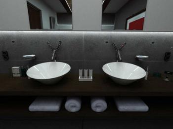 Indoor space 3D bathroom model