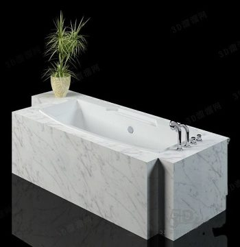 Luxurious bathtub model