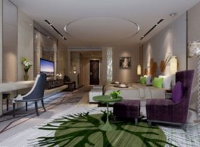 Luxurious modern bedroom 3d model