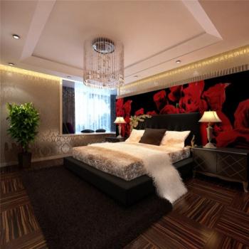 Luxury brightly bedroom model