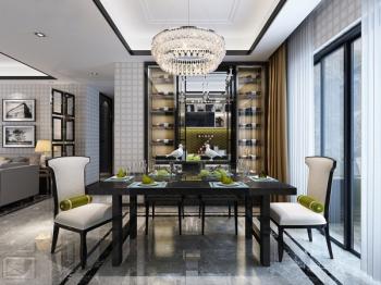 Modern Restaurant 3D model home