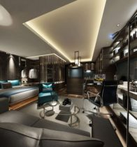 Modern business men Bedroom 3D model