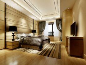 Modern cozy bedroom 3d model