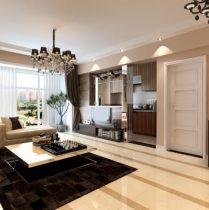 Modern living room 3d model design concise fashion