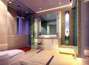 Modern simple glass bathroom