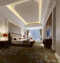 Modern stylish home bedroom 3D model