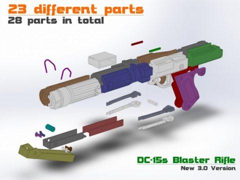 STAR WARS_DC-15s Blaster 3D PRINTABLE RIFLE