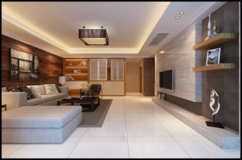 Simple 3D model design living room