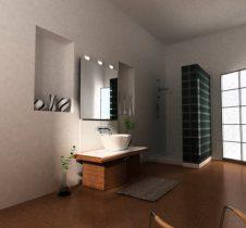 Simple style bathroom 3D model