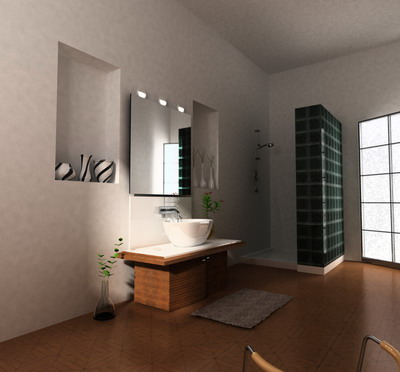Simple Style Bathroom 3d Model