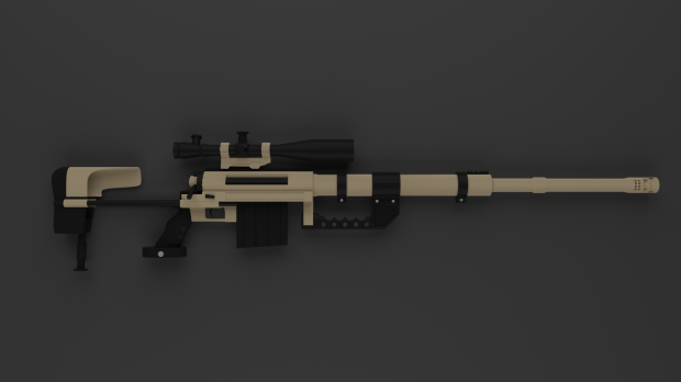 Sniper Rifle M200 Free 3d Models