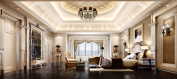 Super luxury home large bedroom 3D model