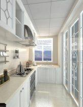 White kitchen design 3D model renderings
