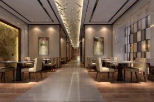stylish restaurant 3D model