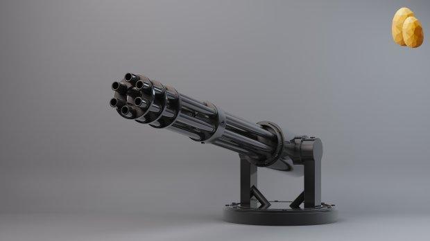 Gatling Gun Turret Downloadfree3d Com