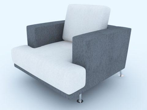 Gray white sofa