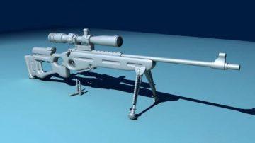 SV98 sniper rifle