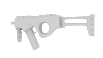 Sci-fi un-textured gun