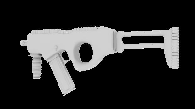 Sci Fi Un Textured Gun Free 3d Models
