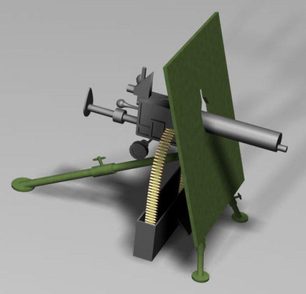 Skoda M1909 Machine Gun Downloadfree3d Com