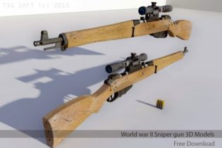 World war II Sniper gun