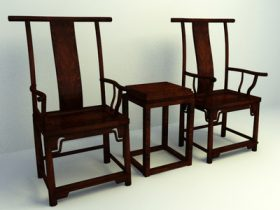 chinese culture wooden chairs