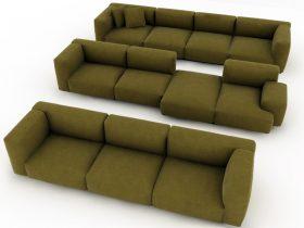 greenish sofa